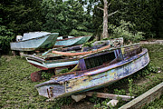 Boaters Photo Prints - Boat Yard Print by Heather Applegate