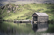 Yesteryear Photos - Boathouse by Jane Rix