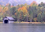 Autumn Colors Originals - Boathouse on the Koenigsee by Matt MacMillan
