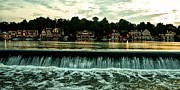 Crew Digital Art - Boathouse Row and Fairmount Dam by Bill Cannon