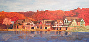 Philadelphia Painting Prints - Boathouse Row Print by Andrew Hench