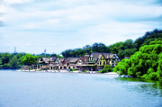 Rower Digital Art Prints - Boathouse Row in June Print by Bill Cannon