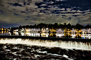 Boathouse Row Philadelphia Framed Prints - Boathouse Row Lights Framed Print by Bill Cannon