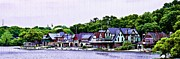 Boathouse Row Posters - Boathouse Row Panarama Poster by Bill Cannon