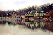 John B Kelly Photos - BoatHouse Row Philadelphia by Gallery Three