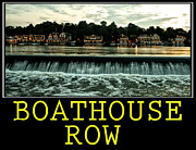 Boathouse Row Framed Prints - Boathouse Row Poster Framed Print by Bill Cannon