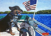 Family Love Paintings - Boating Boating by Kendal Greer