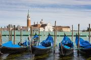 Awesomeness Posters - Boats Anchored At Marina Venice, Italy Poster by Richard Desmarais