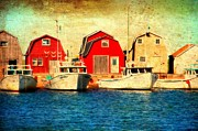 Carter House Prints - Boats and Boat Houses PEI Photograph  Print by Stephan Chagnon and Laura  Carter
