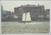 Coasting Posters - Boats and ships on the Hudson 21 Poster by Geri Scull