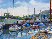 Piers Painting Framed Prints - Boats and yachts Framed Print by Dominique Amendola