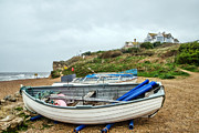 Burton Framed Prints - Boats At Burton Bradstock Framed Print by Susie Peek-Swint