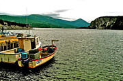 Boats At Dock Digital Art Prints - Boats at Norris Point on Bonne Bay in Gros Morne NP-NL Print by Ruth Hager
