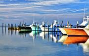 Dan Carmichael - Boats at Oregon Inlet Outer Banks II