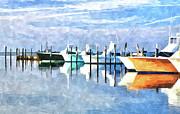 Dan Carmichael - Boats at Oregon Inlet Outer Banks III