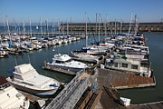 Sail Boats Prints - Boats at The San Francisco Pier 39 Docks 5D26004 Print by Wingsdomain Art and Photography