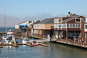 Sail Boats Prints - Boats at The San Francisco Pier 39 Docks 5D26080 Print by Wingsdomain Art and Photography