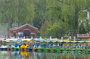 Boats In A Park, Beijing Print by John Shaw