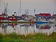 Boats In Harbor Posters - Boats in Bonavista Harbour-NL Poster by Ruth Hager