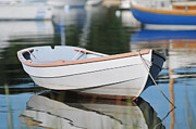 Boats In Harbor Prints - Boats in Cape Cod Harbor Print by John Sarnie