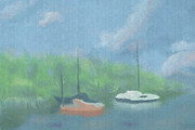 Arlene Babad - Boats in Cove