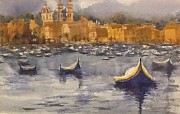 Boats On Water Posters - Boats in Malta Poster by Gail Heffron