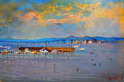 Ylli Haruni Prints - Boats in Piermont harbor NY Print by Ylli Haruni