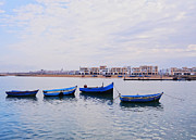 Rabat Prints - Boats in Rabat Print by Karol Kozlowski