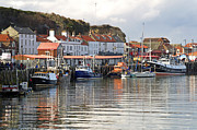 Sail Fish Prints - Boats in the Lower Harbour - Whitby Print by Rod Johnson