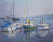 Walter Mosley - Boats on Lake Erie Harbor