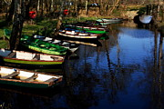 Tied-up Photo Framed Prints - Boats On The River  Framed Print by Aidan Moran