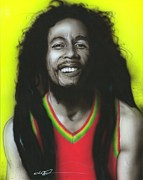 Bob Marley Portrait Posters - Bob Poster by Christian Chapman Art