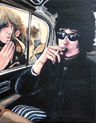 Fans Paintings - Bob Dylan 1966 by Tom Roderick