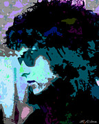 Bob Dylan Digital Art - Bob Dylan by Allen Glass