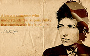 Gospel Framed Prints - Bob Dylan Art Poster Framed Print by Sanely Great