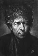 Author Drawings Metal Prints - Bob Dylan Metal Print by Viola El