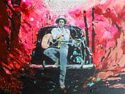 Bob Dylan - Crossroads Print by Lucia Hoogervorst
