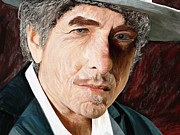 Folk Realism Framed Prints - Bob Dylan Framed Print by James Shepherd