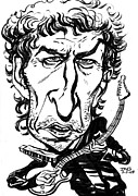 Rock Star Drawings - Bob Dylan by John Ashton Golden