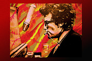 Philadelphia Painting Prints - Bob Dylan Print by Kevin J Cooper Artwork