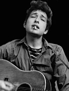 Folk  Photos - Bob Dylan Portrait Poster by Sanely Great