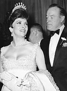 Lollobrigida Prints - Bob Hope and Gina Lollobrigida Print by Underwood Archives