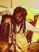 Lion Of Judah Paintings - Bob in Trenchtown by Kevin J Cooper Artwork