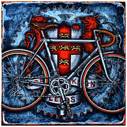 Cogs Painting Framed Prints - Bob Jackson Framed Print by Mark Howard Jones