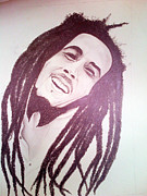 Music Legend Drawings Originals - Bob Marley by Aileen Carruthers