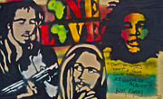 Stencil Art Paintings - Bob Marley BIG by Tony B Conscious