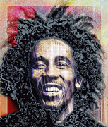 Music Legend Digital Art Framed Prints - Bob Marley Framed Print by Daniel Hagerman