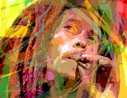 Bob Marley Portrait Prints - Bob Marley Print by  David Lloyd Glover