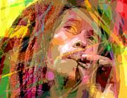 Bob Marley Print by David Lloyd Glover