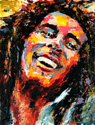Bob Marley Print by Derek Russell